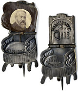 Benjamin Harrison: Classic Presidential Chair mechanical badge