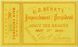 Andrew Johnson: Impeachment trial ticket (May 13)