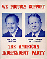 Schmitz and Anderson: Scarce American Independent Party jugate poster