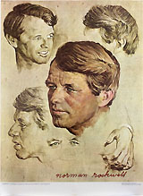 Robert Kennedy: Norman Rockwell studies poster