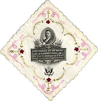 Theodore Roosevelt: Louisiana Purchase Exposition souvenir handkerchief