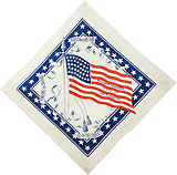 Harrison and Morton: American flag campaign bandanna