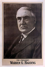 Warren G. Harding: Giant headquarters campaign poster
