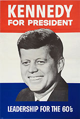 John F. Kennedy: Leadership for the 60's headquarters poster