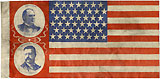 McKinley and Roosevelt: Jugate U.S. flag style campaign banner