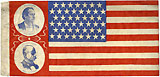 Bryan and Stevenson: Jugate U.S. flag style campaign banner