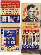 Wendell Willkie: America Needs Him pop-up campaign matchbook