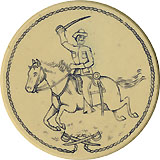Theodore Roosevelt: Rough Rider poker chip