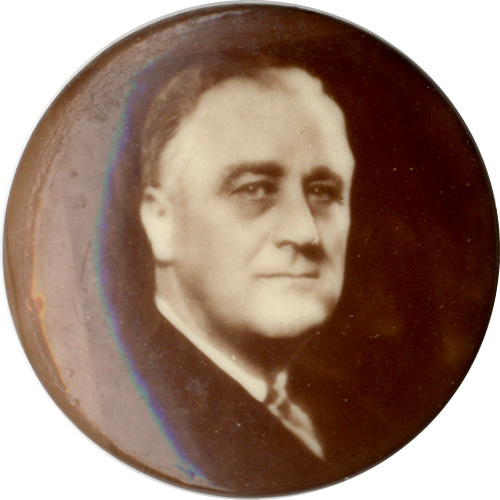 Franklin Roosevelt: Sepia photo button
