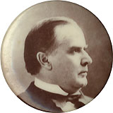 William McKinley: Sepia photo portrait button