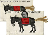 William Jennings Bryan: Pull for Your Candidate mechanical postcard