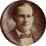 William Jennings Bryan: Uncommon sepia photo button