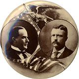 McKinley and Roosevelt: Handsome sepia photo jugate, in larger size