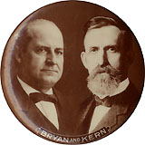 Bryan and Kern: Scarce sepia photo jugate pinback