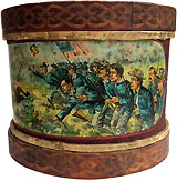Theodore Roosevelt: Rare Storming of San Juan Hill lithographed toy drum