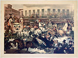 Zachary Taylor and Barnum's Museum: Spectacular color lithograph of antebellum New York