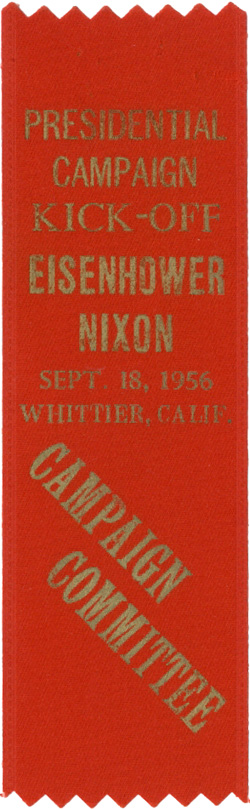 Dwight Eisenhower: 1956 Presidential Campaign Kick-Off ribbon