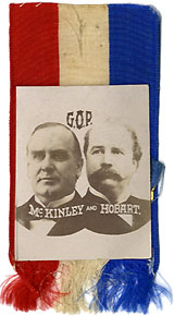 McKinley and Hobart: G.O.P. photographic jugate ribbon