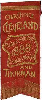 Cleveland and Thurman: PUBLIC OFFICE A PUBLIC TRUST bandanna ribbon