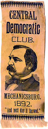 Grover Cleveland: Central Democratic Club rare portrait ribbon