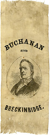 James Buchanan: Buchanan and Breckinridge portrait ribbon