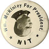 William McKinley: Wm. McKinley for President NIT rare lapel stud