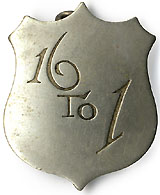Bryan and Free Silver: 16 TO 1 shield badge