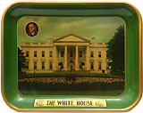 Franklin D. Roosevelt: THE WHITE HOUSE metal serving tray