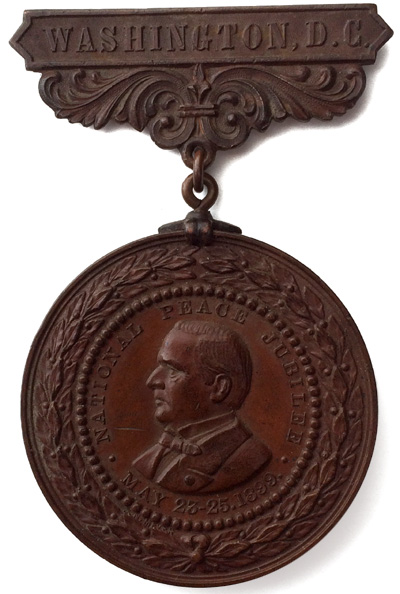 William McKinley and Spanish-American War: National Peace Jubilee high relief medal