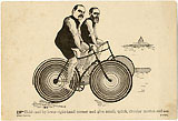 Cleveland and Harrison: Bicycling trade card