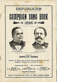McKinley and Hobart: Republican Campaign Song Book 1896