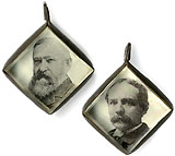 Harrison and Reid: FREE BALLOT - HONEST DOLLAR jugate fob charm