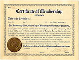 William Howard Taft: University Club signed membership certificate
