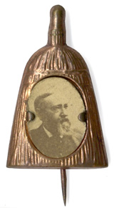 Benjamin Harrison: Broom photographic shell badge