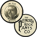 Grover Cleveland: I'M FOR CLEVELAND R-U? advertising token