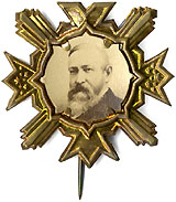 Benjamin Harrison: Pristine photographic campaign badge
