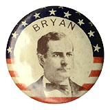 William Jennings Bryan: Stars-and-stripes border lapel stud