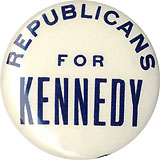 John F. Kennedy: Scarce REPUBLICANS FOR KENNEDY pinback