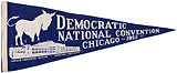 Adlai Stevenson: Large 1952 Democratic National Convention souvenir pennant
