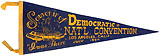 John F. Kennedy: Large 1960 Democratic National Convention souvenir pennant