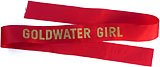 Barry Goldwater: Genuine GOLDWATER GIRL sash