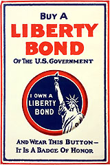 World War I Home Front: BUY A LIBERTY BOND button poster