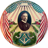 Organized Labor / Button Art: Spectacular 9-in. patriotic portrait button
