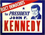John F. Kennedy: Rare 1962 midterm elections poster