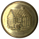 William Henry Harrison: Log Cabin clothing button