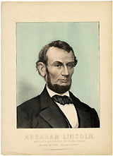 Abraham Lincoln: 1865 memorial chromolithograph
