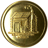 William Henry Harrison: Bright, AU Log Cabin clothing button