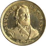 Ulysses Grant: High grade I PROPOSE TO FIGHT IT OUT campaign medalet
