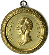 Henry Clay: Rare PROTECTION & UNION shell locket