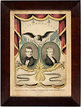 Polk and Dallas: GRAND NATIONAL DEMOCRATIC BANNER Currier campaign print